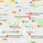 Gasolineras y Estaciones de servicio en Gasteiz, vía Google Maps
