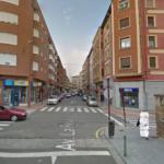 Avenida La Rioja en Haro donde se encuentra la gasolinera, vista desde el Colegio, en contra dirección