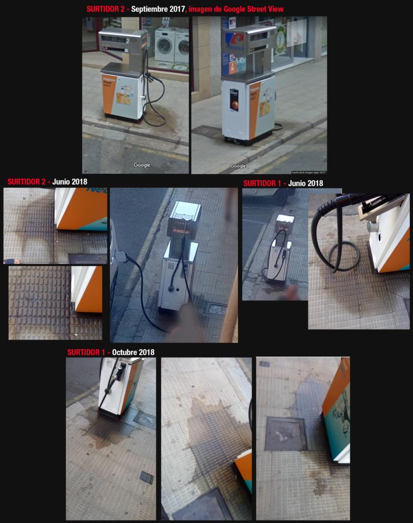 Gasolinera en Avenida La Rioja de Haro, fugas en los surtidores a lo largo de un año